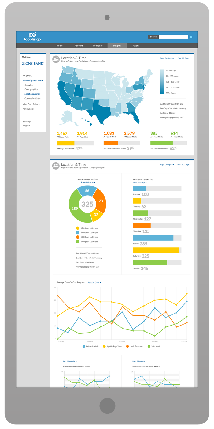 Merchant Portal Interface Design - Location & Time