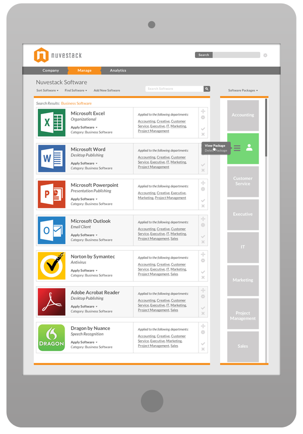 Software User Interface Design - Software Packages