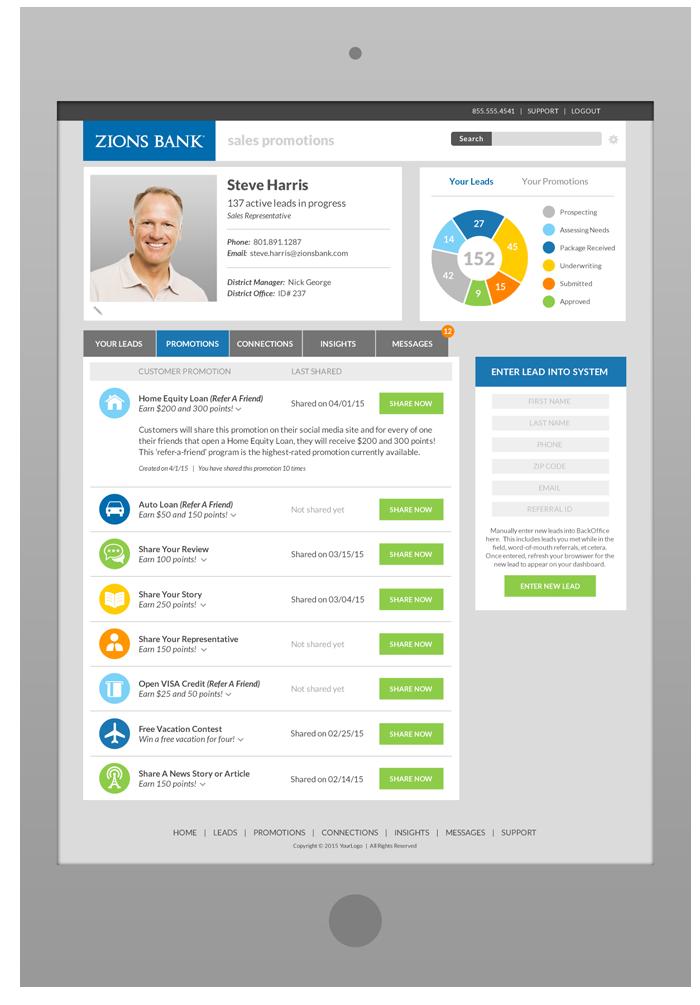 Sales Rep Portal Software Design - Promotions