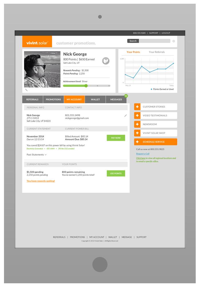 Customer Portal Design - My AccountTab