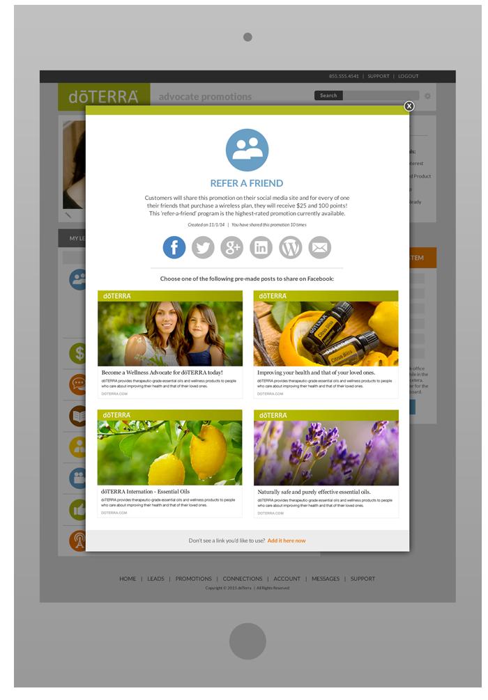 Wellness Advocate Portal - PromotionShare Pop-Up