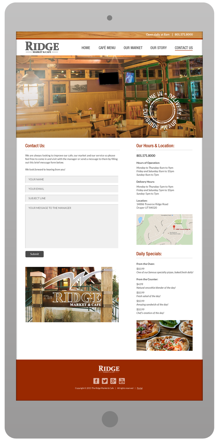 New Website Design - Contact