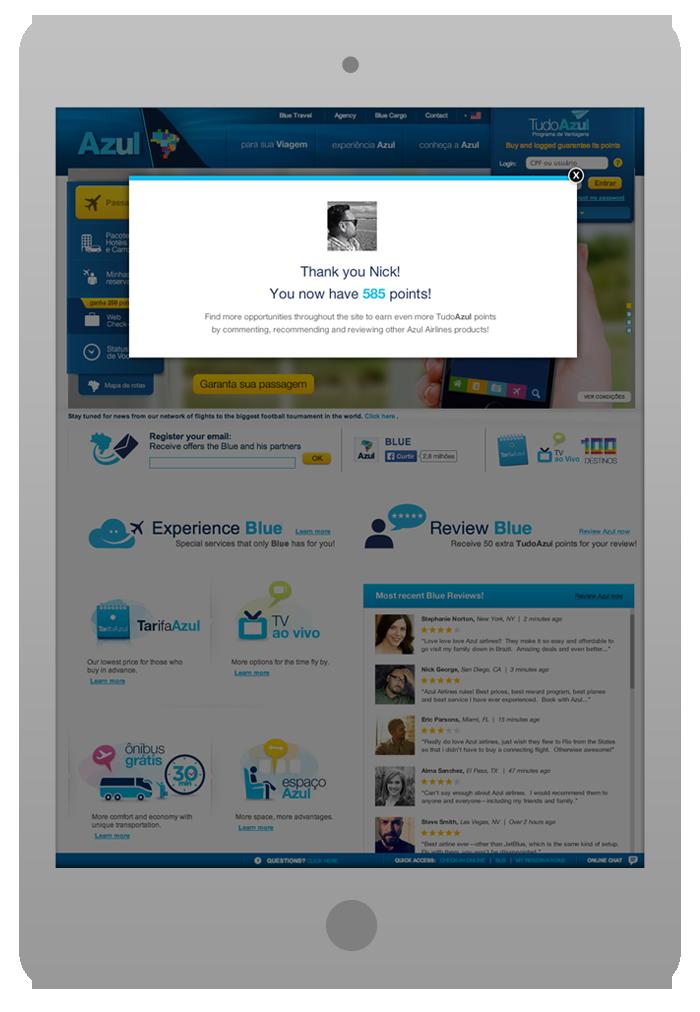 Software Integration Design -  Review Blue - Success Pop-Up