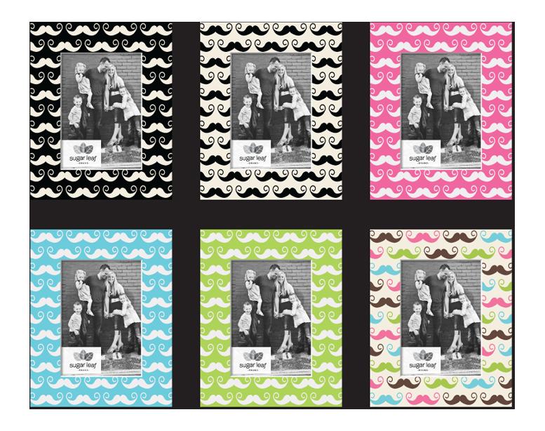 Designer Mustache Matte Boards - Product Design & Packaging