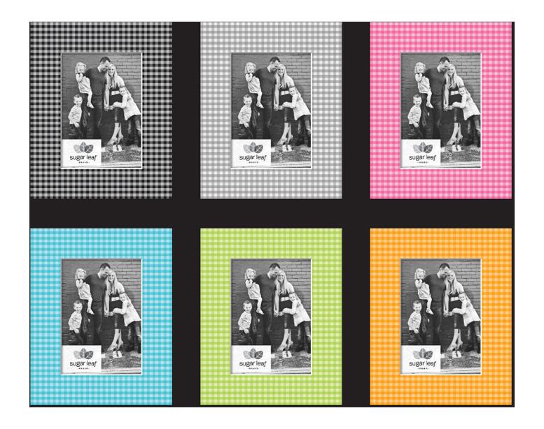 Designer Gingham Matte Boards - Product Design & Packaging