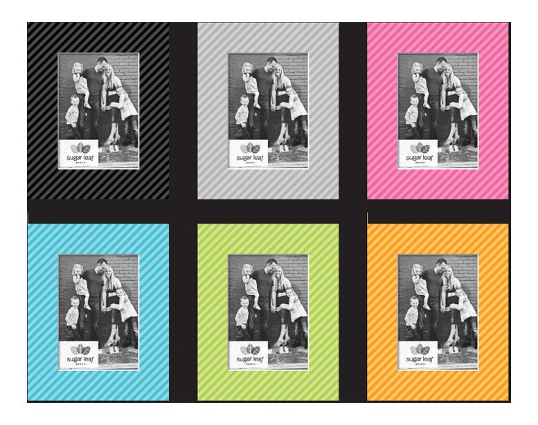 Designer Stripes Matte Boards - Product Design & Packaging