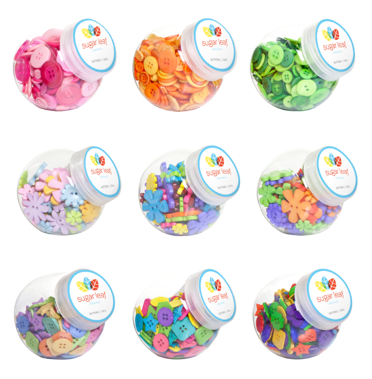 Button Assortments - Packaging & Photoshopped Imagery