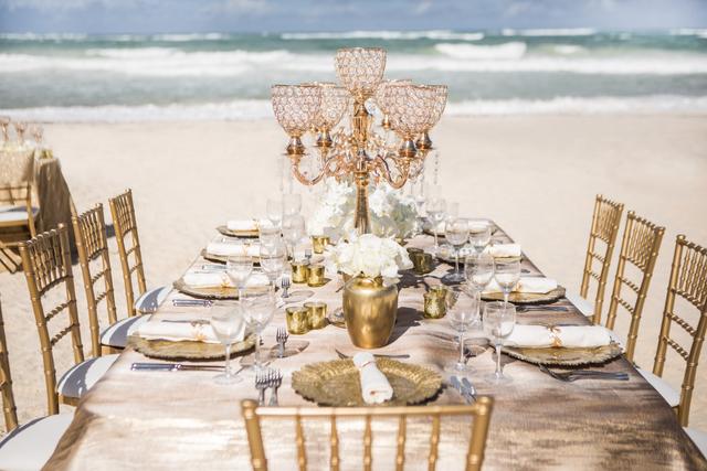 Golden Radiance - Long White Rose Candelabra Table -2 .Jpg