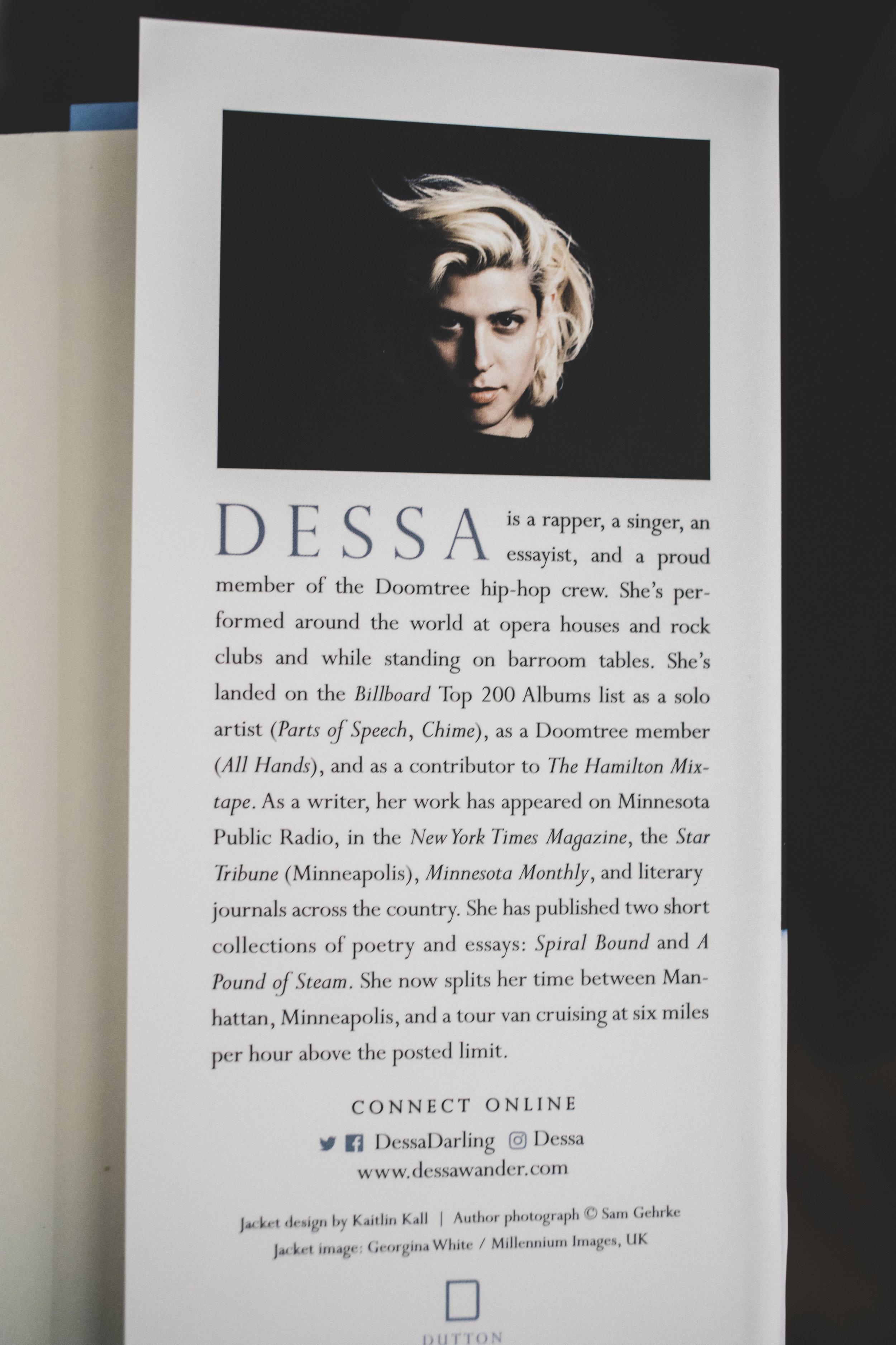 My Own Devices - Dessa Author Portrait