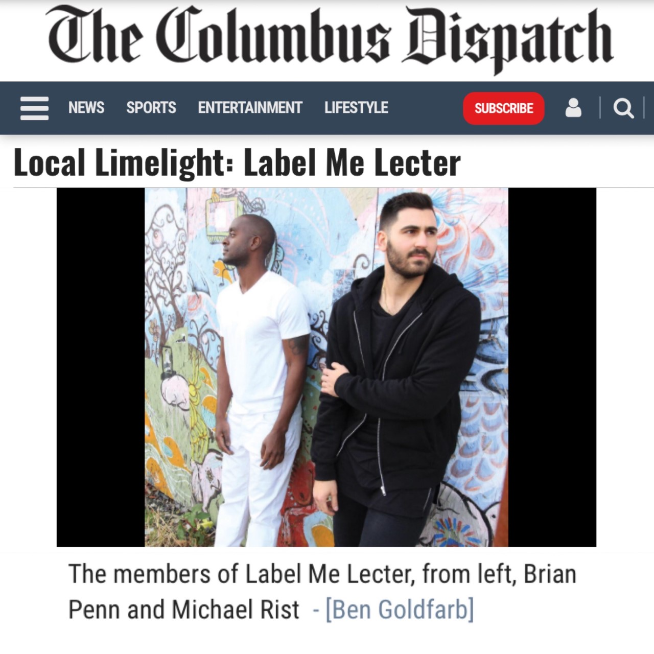 special thanks to   julia oller   and the   columbus dispatch   for featuring us in the local limelight section. we appreciate it greatly. check out the article   HERE