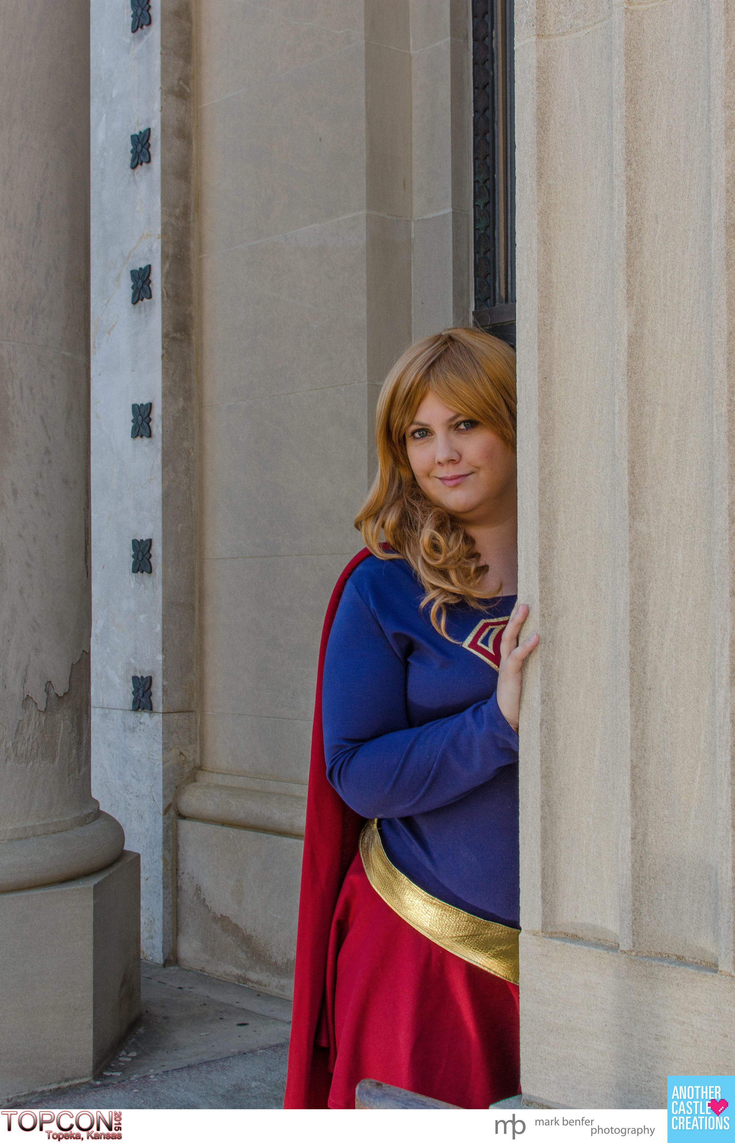 Lydia Heartwell as Supergirl at TOPCON 2015.