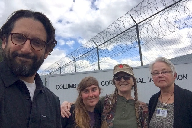 Cornelius with volunteers with Liberation Literacy at the Columbia River Correctional Institute.