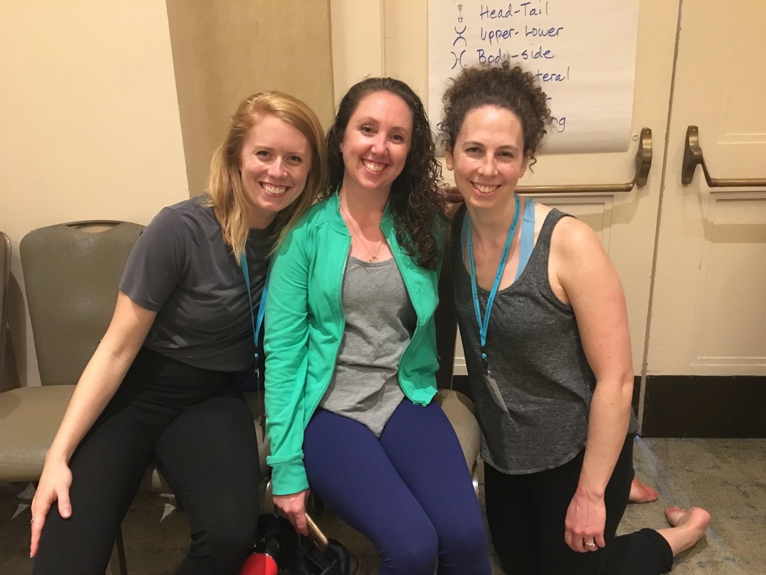 Just before Anne Green Gilbert's braindance workshop with Ellie Brown and Gabrielle McNeillie.