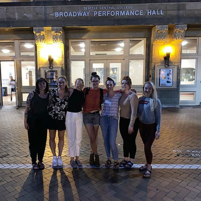 reflection on performance: some things are best said in a series of post show images • classic formal, spice girls shot, sorority pic (attempt), unintentional action photo • thank you @deawash for a memorable and supportive show tonight!