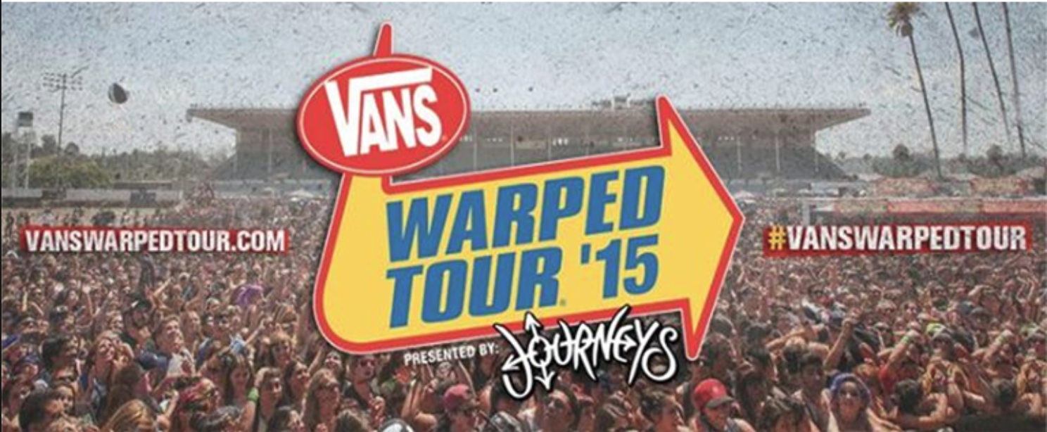 2015 Vans Warped Tour - National traveling outdoor event, mobile ATM service provided by Emerald ATM Los Angeles, CA