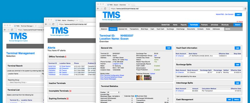 TMS™ is a desktop based ATM processing management platform and ATM business service solution available nationwide