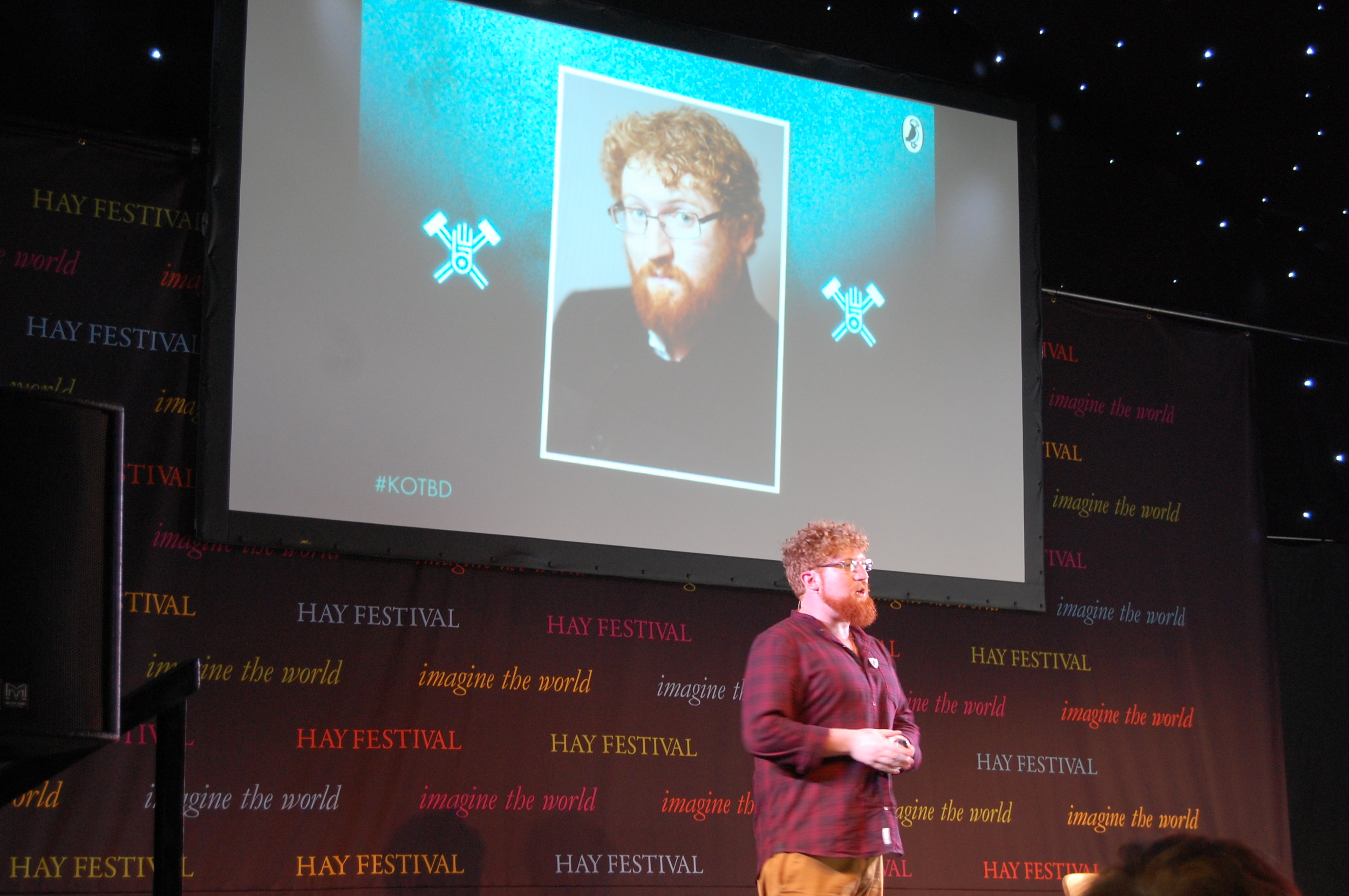 Dave at the Hay Festival