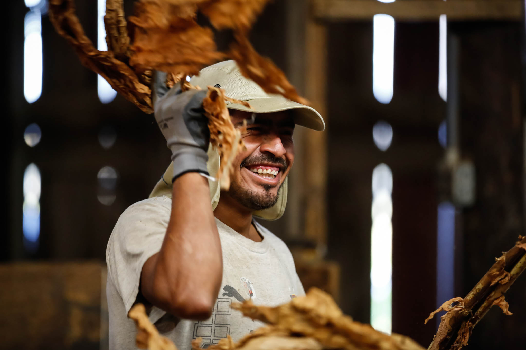 "Javi Crúz, a 34-year-old migrant worker from Mexico, is proud to have a job in the U.S. ""Working on this farm gives me an opportunity to give back to my family. Its hard to find this opporutnities back home,"" he says."