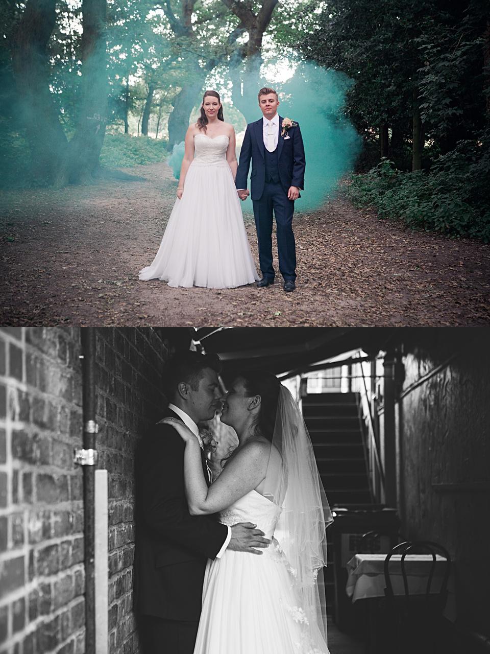 Bride & Groom Kiss, Carla Guest Photography, Kent Wedding
