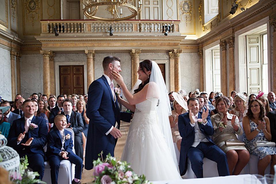 bride and groom, Kent wedding, cobham hall
