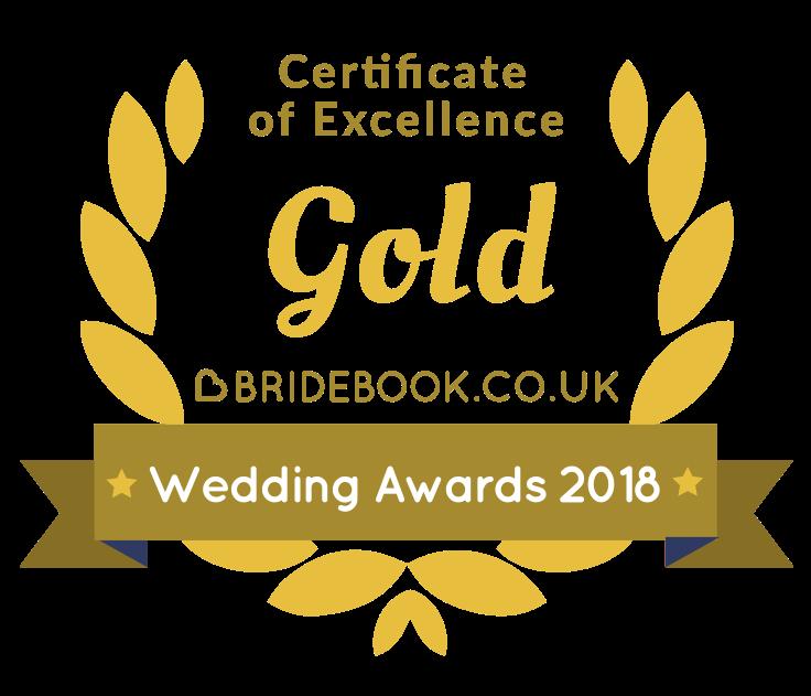 bridebook gold award