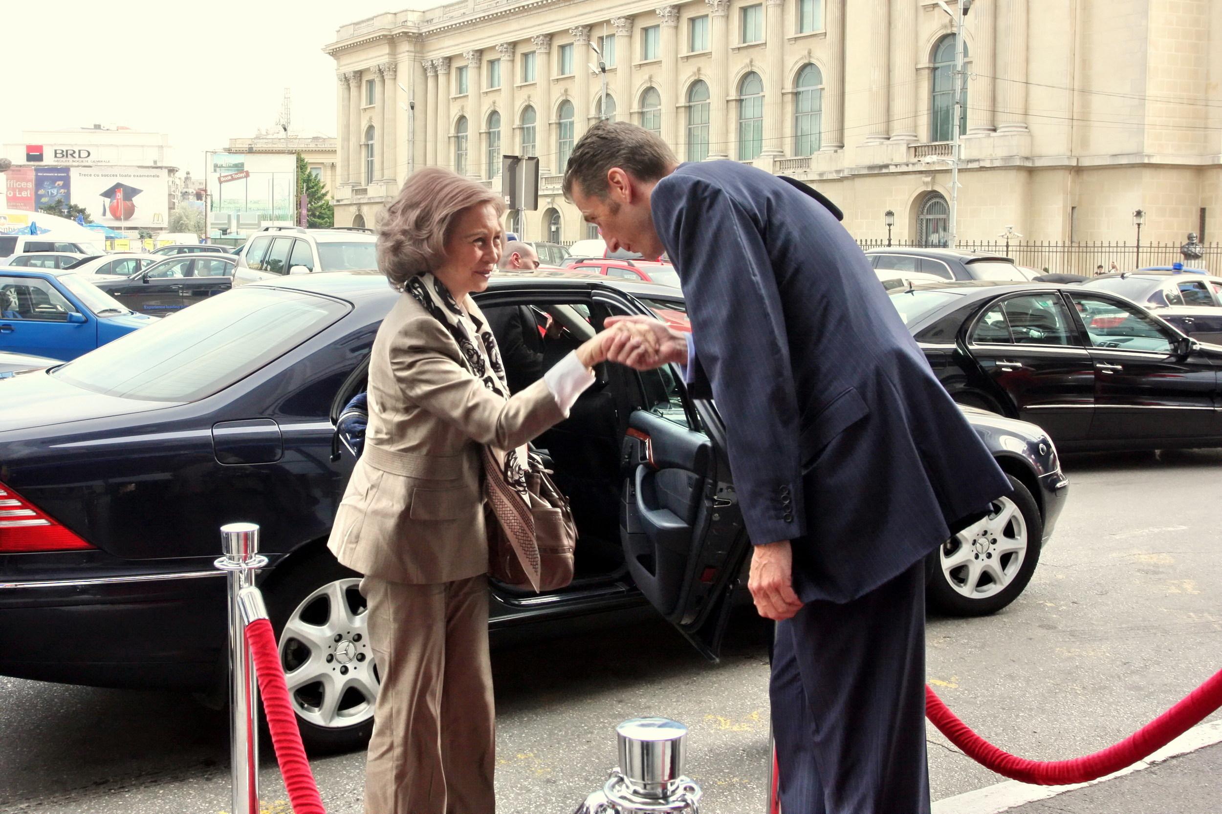 Die spanische Königin Sofia zu Besuch in Bukarest.