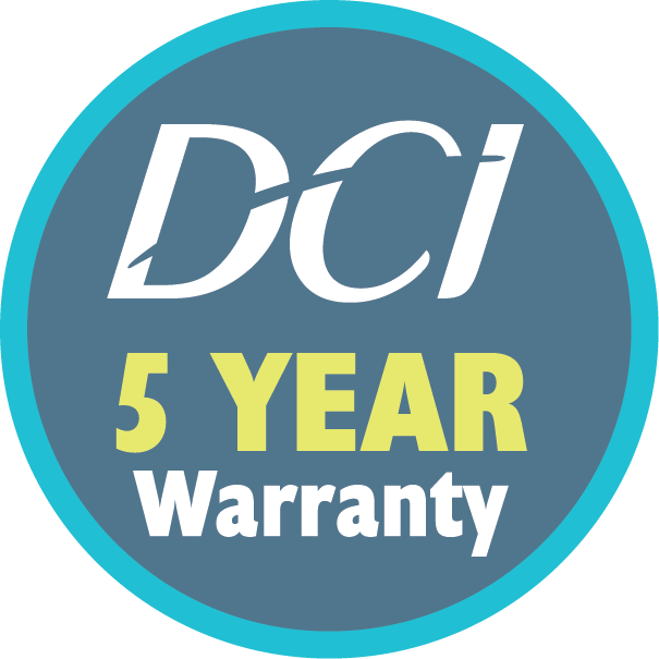 Standard DCI 5 Year Warranty delivers peace of mind