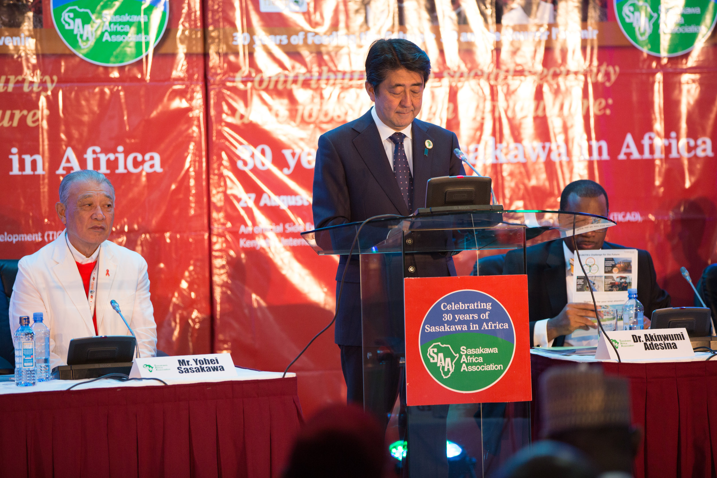 The Prime Minister of Japan, HE Mr Shinzō Abe, addresses our symposium at TICAD VI