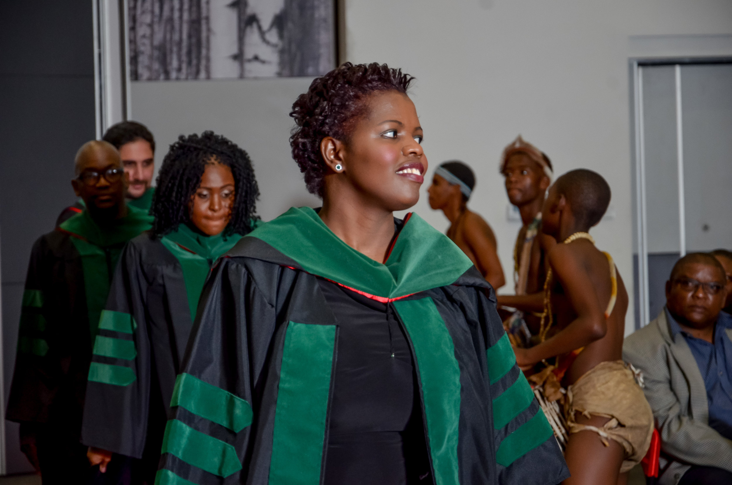 A Batswna medical graduate from St George's University at her commencement ceremony in Gaborone