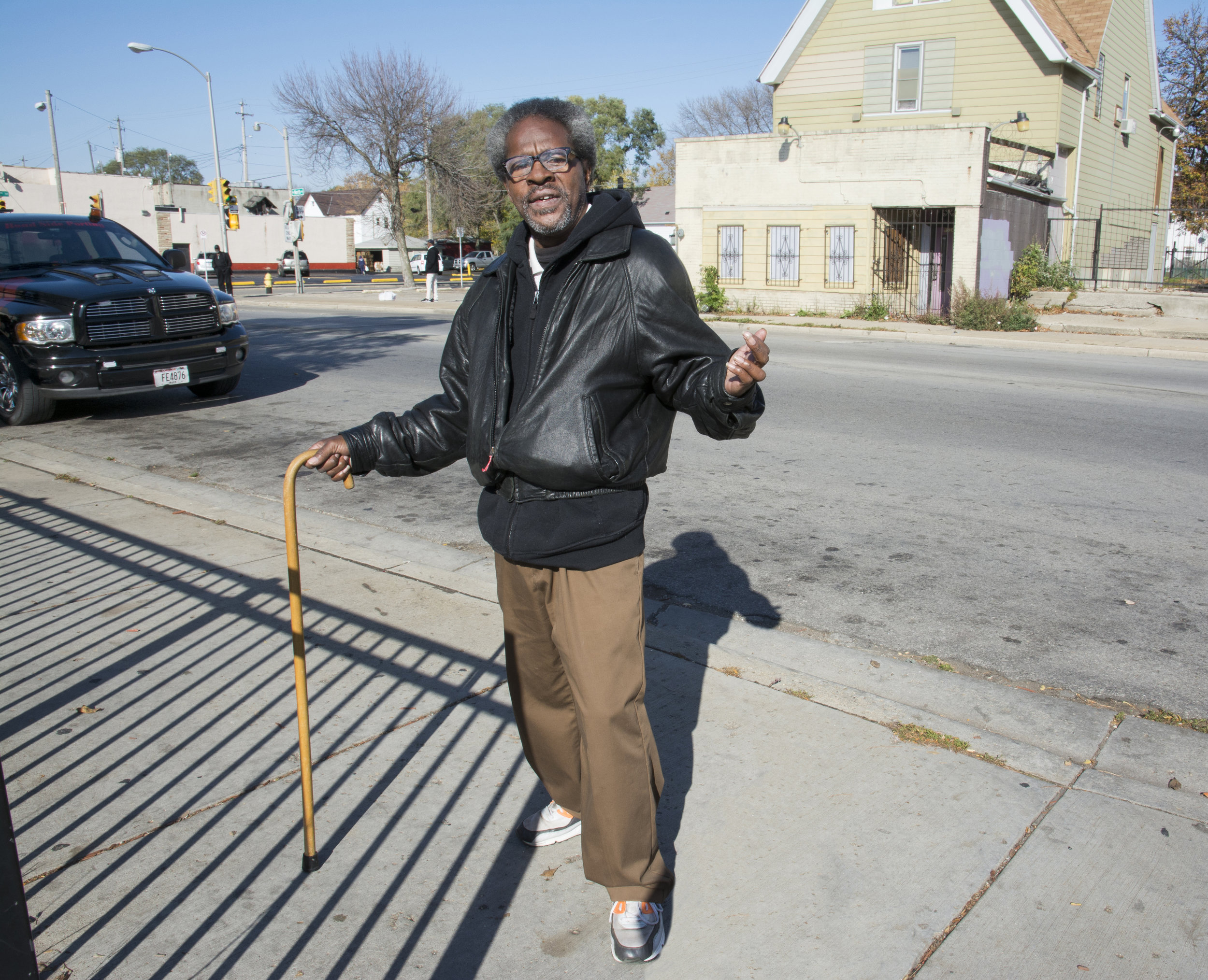 """George Brown, 50, is still alive after 3 strokes. As a younger man, he worked at Galst Foods market. """"My old neighborhood has changed for the worse,"""" he said, shaking his head. """"Too many drugs and thieves, even murders."""" Most mornings, he stops by the liquor store to visit with his cousins."""