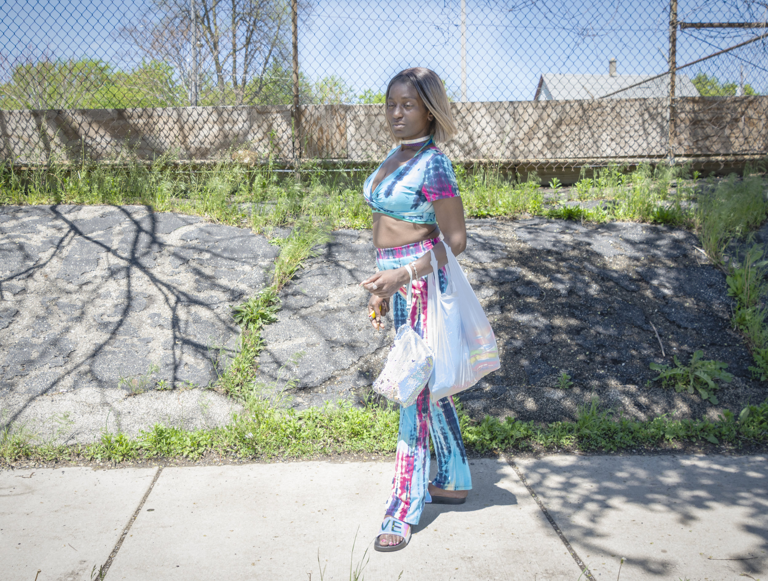 """Nina is a street walker. She told me she had been raised in this neighborhood. She said, """"The streets are dangerous. Too much violence. You have to stay away from stupidity to survive. You have to stay within your """"ram.""""  I wondered what a ram was. """"Your personal zone,"""" explained Nina."""
