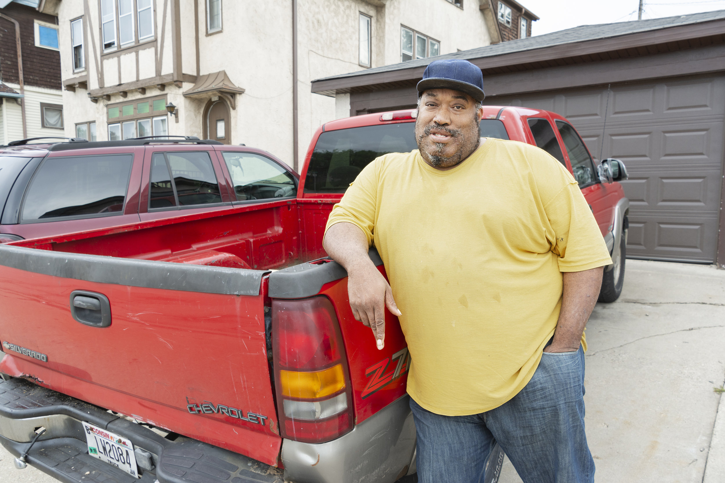 """Marvin is 51. He grew up within a neighborhood now classed as one of Wisconsin's poorest. """"The ghetto is like a slow cancer,"""" he told me. """"First you lose faith in your community, then in your church. Your dad gets killed or put in prison, or he leaves, and then you lose faith in God.""""  Marvin now lives in a Christian Fellowship House and does odd jobs to get by.  He said he never married but hopes to meet the right woman someday."""
