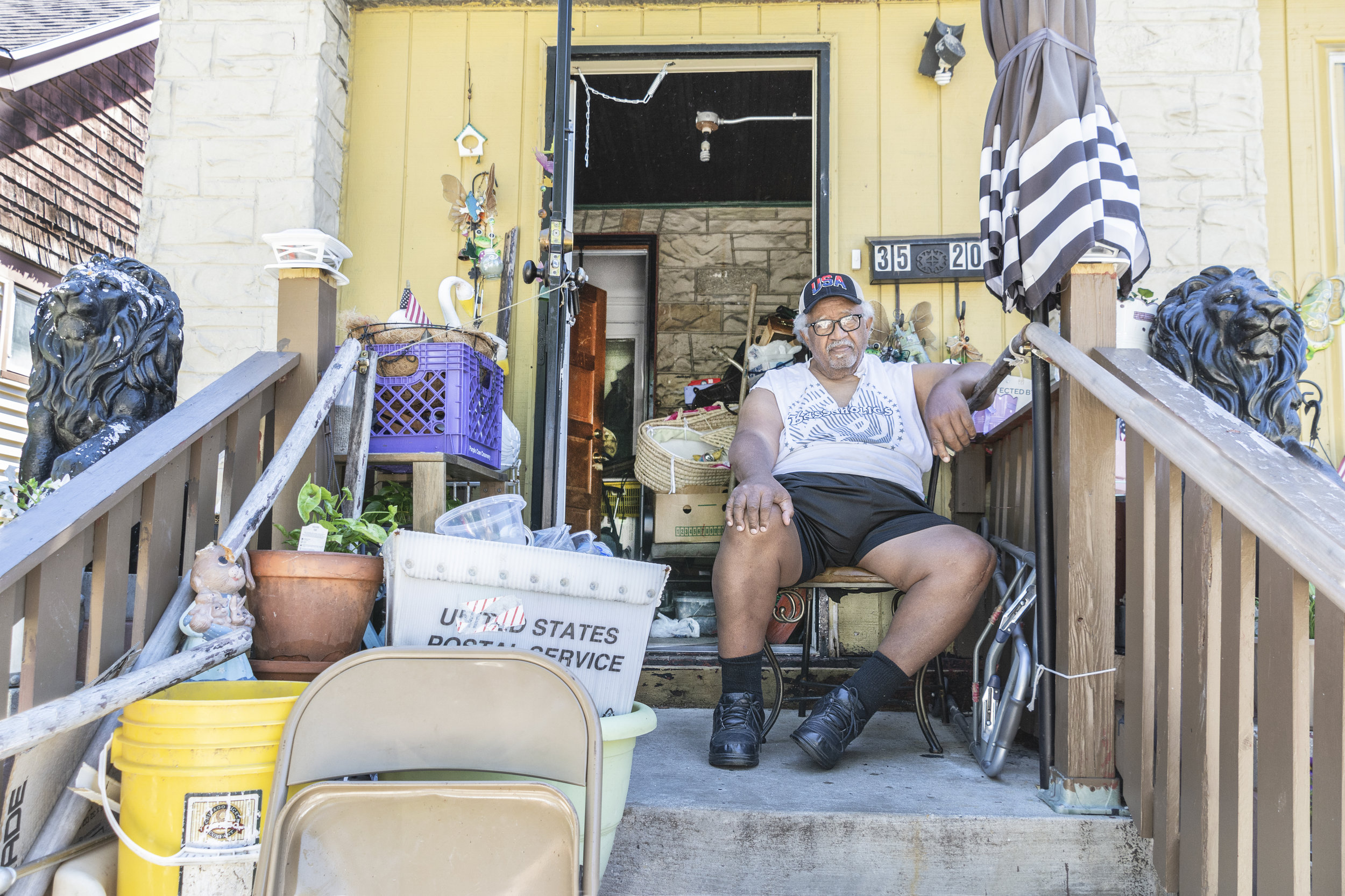 """Clifford Ray is retired from his 28 year job at General Electric. He is also a hoarder. A resident of inner city Milwaukee, he has lived in this same house for over 30 years. I asked him if he'd seen changes in his neighborhood. """"Big changes,"""" he said. """"No gangs back then. No violence. Couple months ago, a guy got murdered just up the street. It's dangerous here."""""""