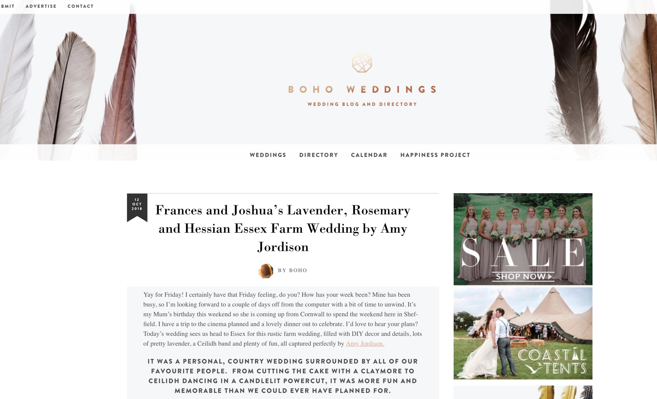 Josh and Fe's Essex Country Barn Wedding -