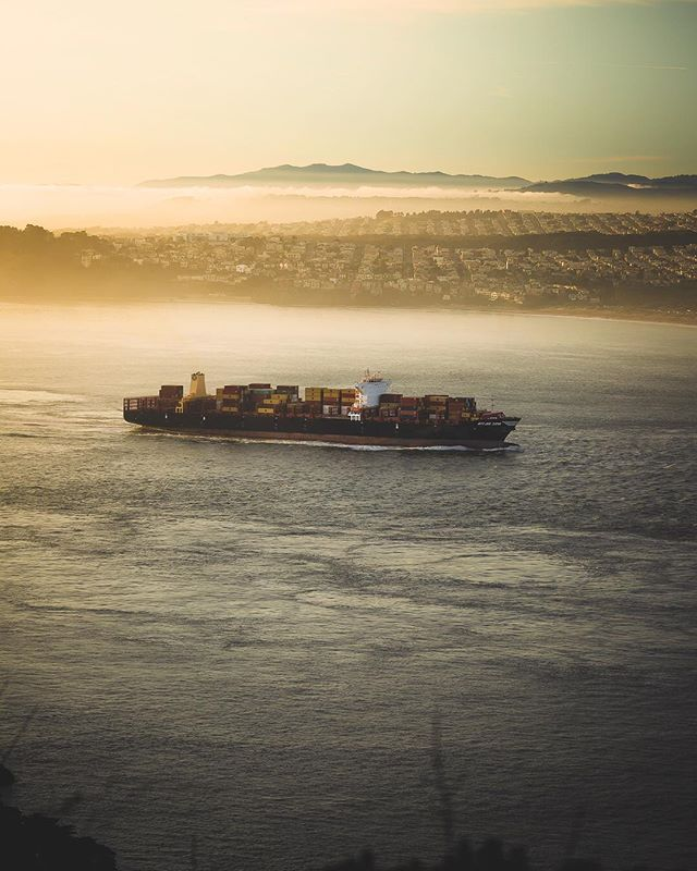 ☀️ Golden hour on the Bay… • I won't forget those couple hours on the foothills of Sausalito, staring across at San Francisco through a golden haze. It's one of those moments during which you pinch yourself; lucky beyond belief, and yearning to confirm that what's before you is reality. ….. @BeautifulDestinations #DiscoverEarth