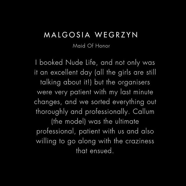 Malgosia, we're glad you had a ball and we only hope the party was as creative as your name! . If you are looking for a different kind of hen party, that will be talked about for years to come, our life drawing classes create a totally unique and unforgettable experience for your bride-to-be and all her hens.