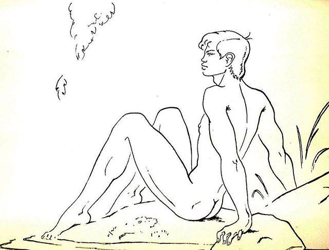 "• Jean Boullet, illustration for ""Antinous"" 1954"
