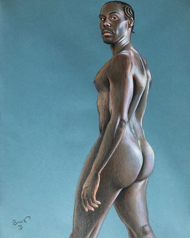 • The main man @kagedouglas in Conté by @paulanotherartist