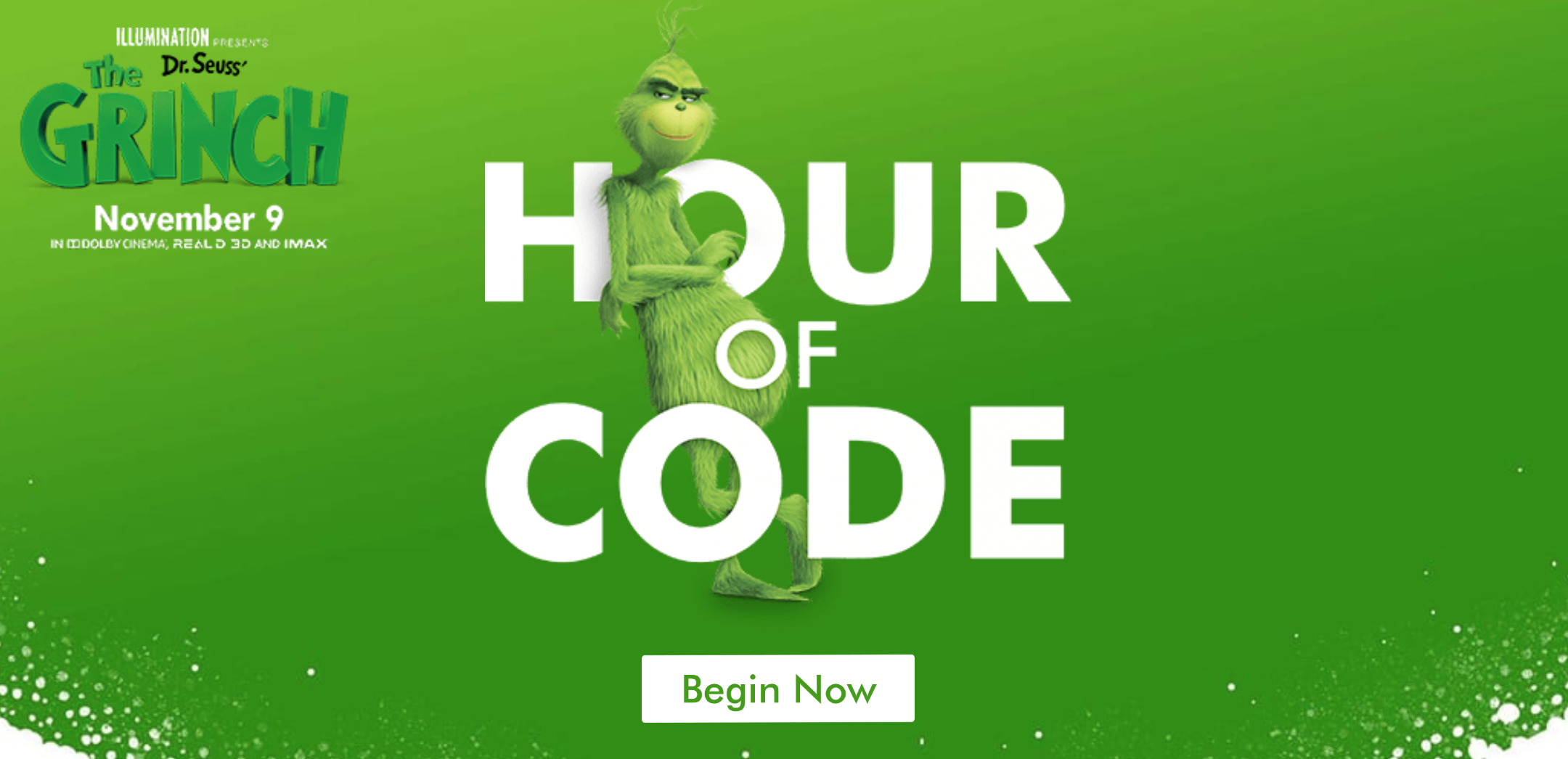 Coding Game for Illumination Presents Dr. Seuss' The Grinch - Code Fever's team partnered with NBCUniversal and Illumination Entertainment to design and develop a Google Blockly based Coding Game for the National Hour of Code.