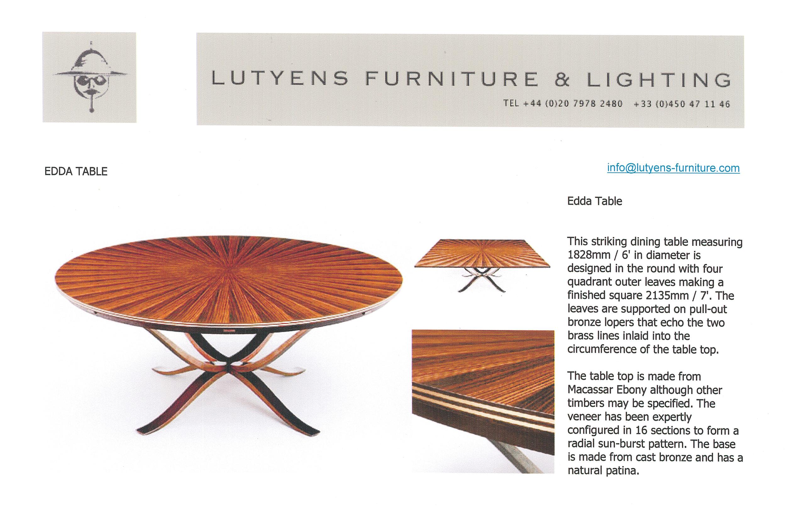 LUTYENS FURNITURE & LIGHTING