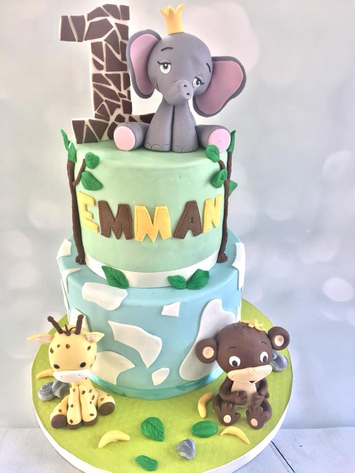 This weeks high lighted cake is this adorable safari themed 1st Birthday cake! I totally loved making these cute as a button gumpaste baby animals!   Needless to say our client was more then pleased with the outcome! Check out her review  here .   Until next time!      -Heidi