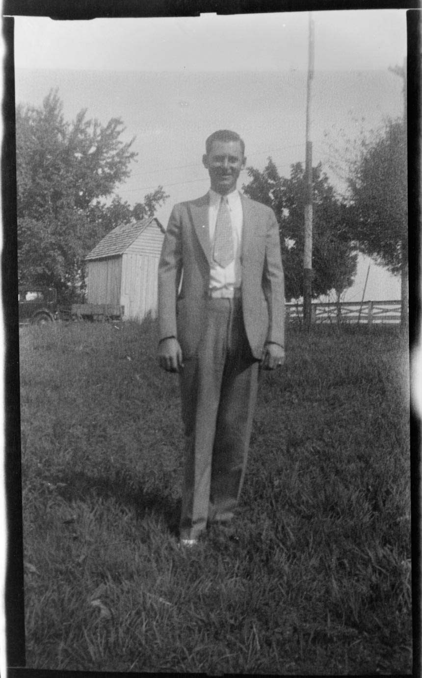 Joe Hardy Shipp circa 1934on his farm in Nunnelly, Tennessee