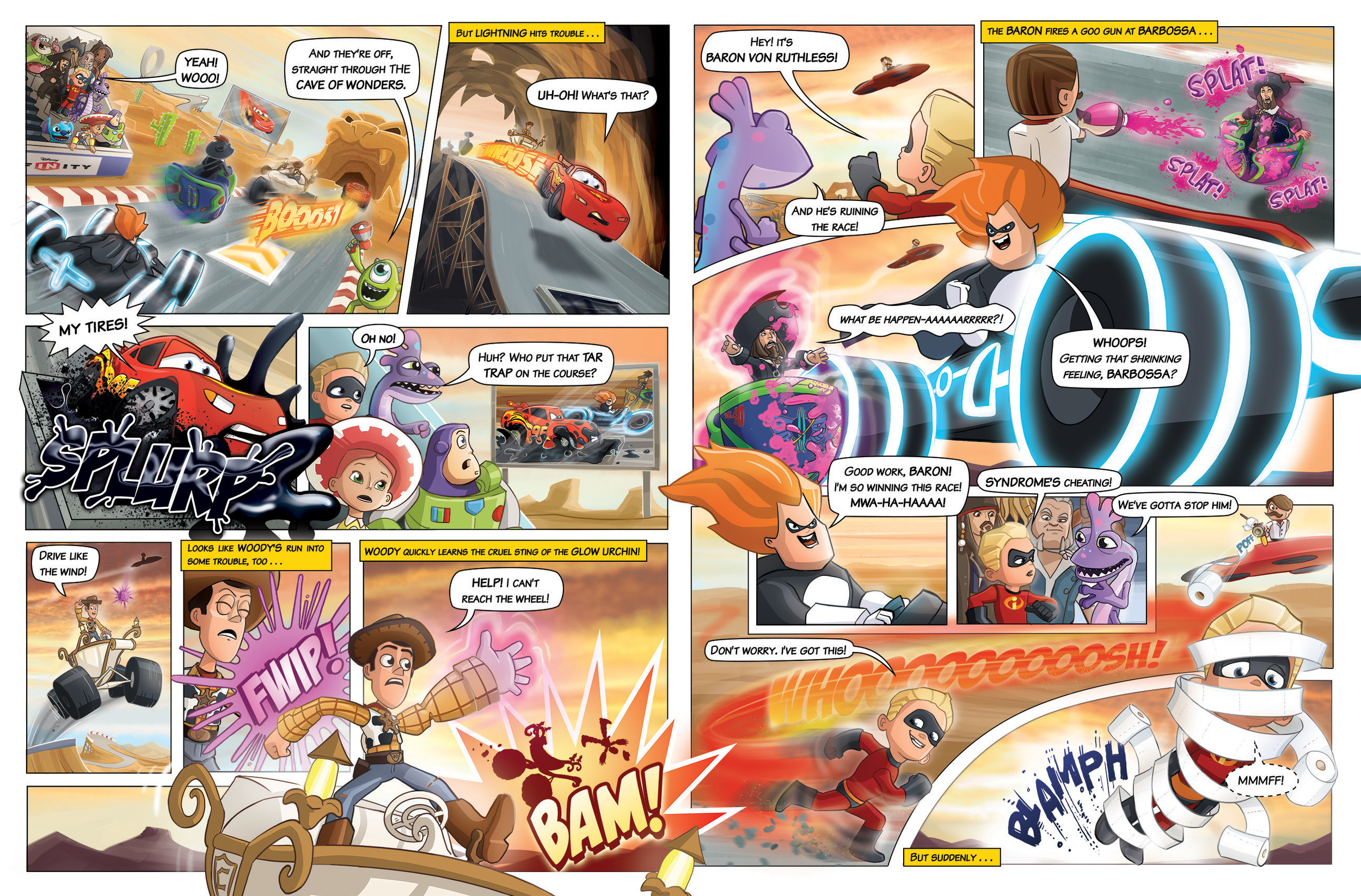Disney Infinity Comic Strip - Published by Penguin