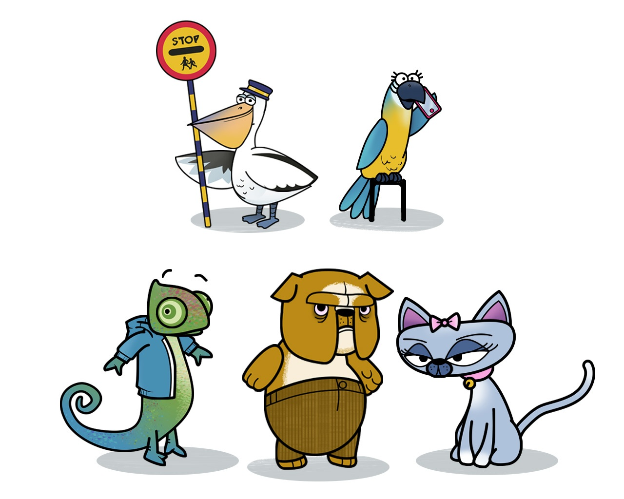 The Zoo Trip Characters - Road Saftey Animation for BTTP