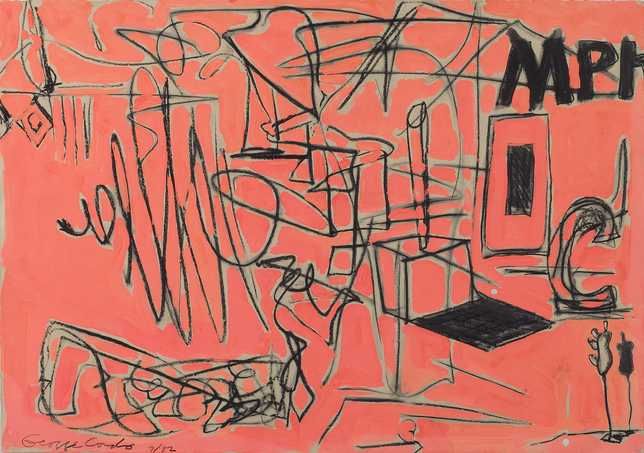 SOLD  Untitled, 1982  , mixed media on paper, 22 x 30 inches