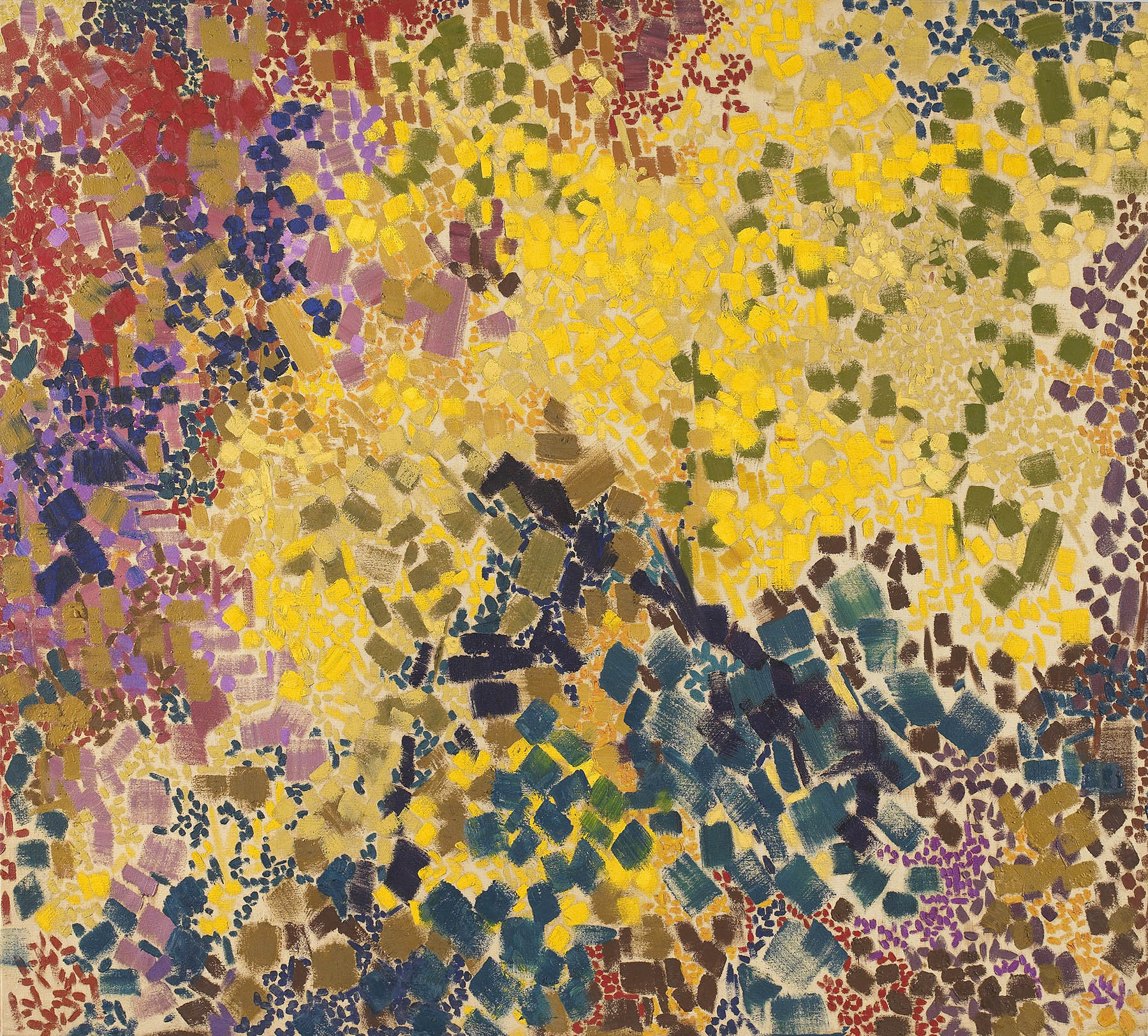SOLD   Glouchester Yellow, 1960 , oil on canvas, 44 x 48 inches