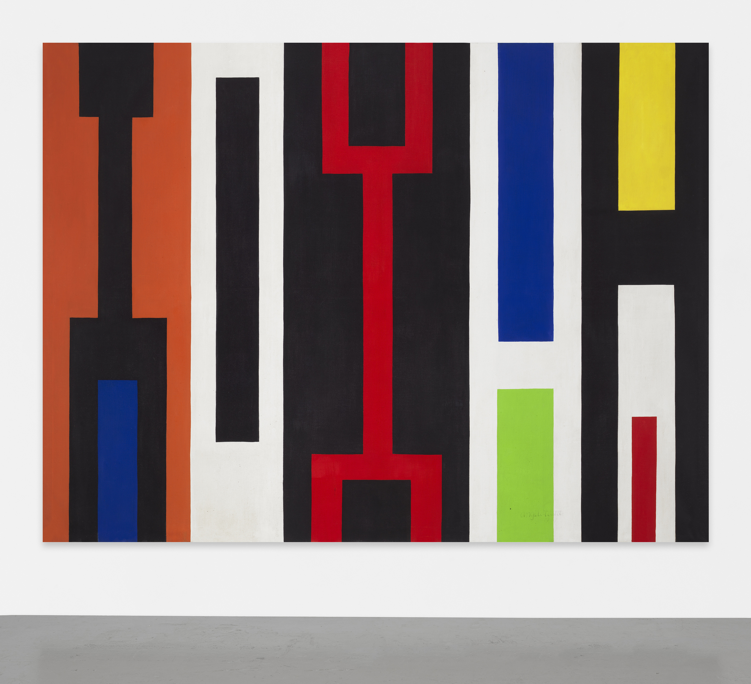 #267 Geometric Abstraction, 1967  , oil on canvas, 80 3/8 x 107 5/8 inches