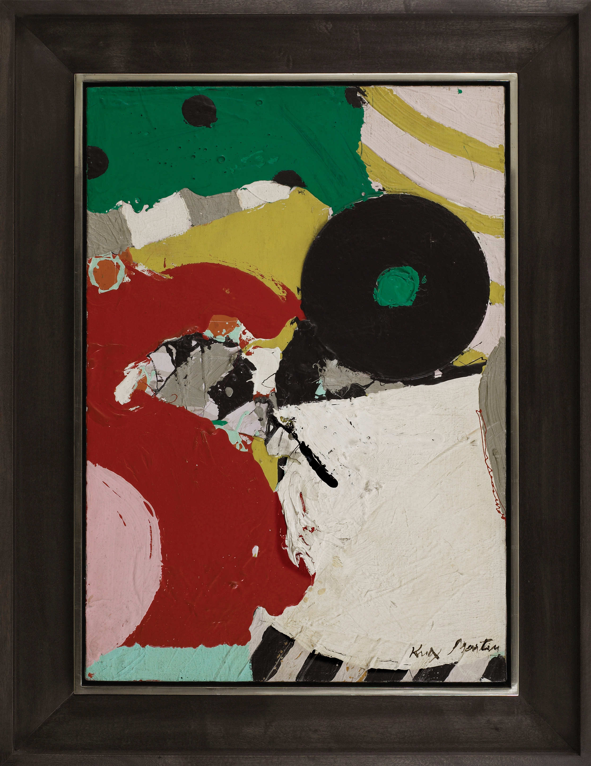 SOLD  Edge No. 2, 1964,   oil and collage on canvas, 26 x 18 inches