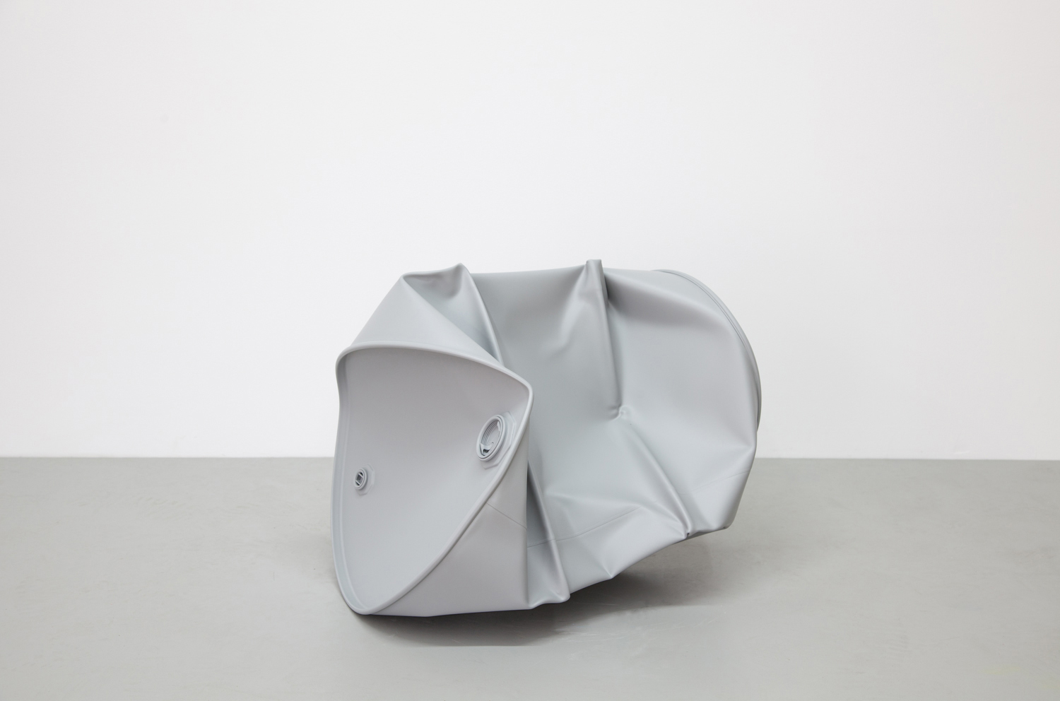 Knocked Down, 2013  , acrylic on steel, 20 1/2 x 18 3/4 inches