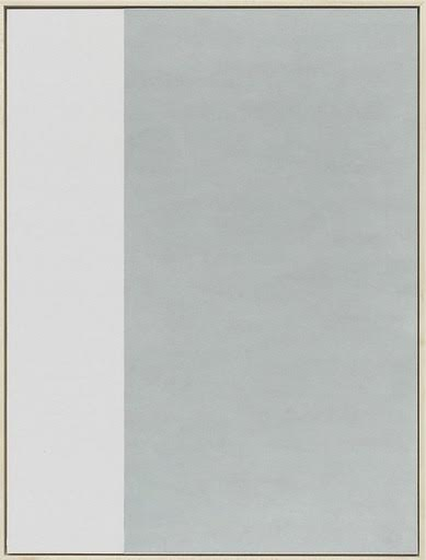 Beige on the Left, 2014  , drywall in artist's frame, 24 3/4 x 18 3/4 inches
